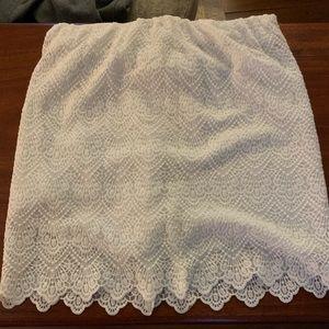Jcrew white lace miniskirt